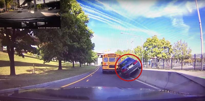 Dash Cam : Accident stupide d'une BMW trop pressée