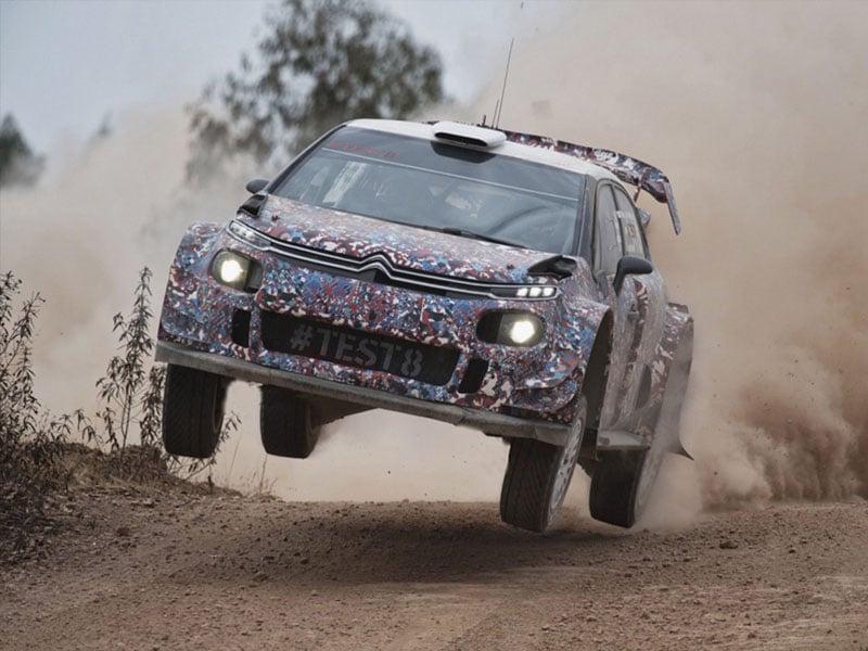 citroen c3 WRC saut