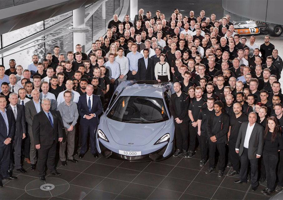 McLaren atteint le chiffre symbolique de 10 000 véhicules sportifs fabriqués
