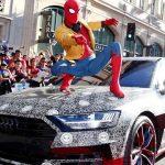 La nouvelle Audi A8 se dévoile sur le tapis rouge de la sortie du nouveau film Spider-Man