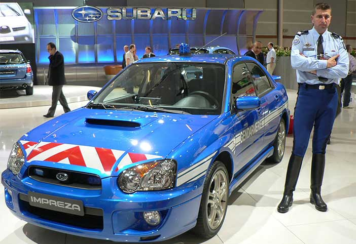 subaru-impreza wrx-police-france